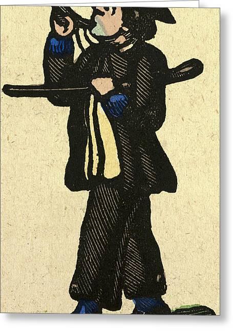 Illustration Of English Tales Folk Tales And Ballads Greeting Card