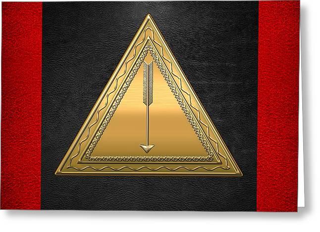 21st Degree Mason - Noachite Or Prussian Knight Masonic  Greeting Card by Serge Averbukh