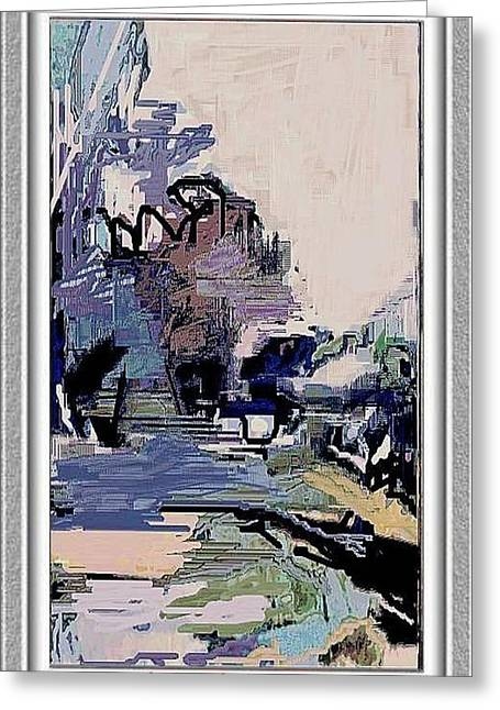 Greeting Card featuring the painting Abstract Landscape by Pemaro
