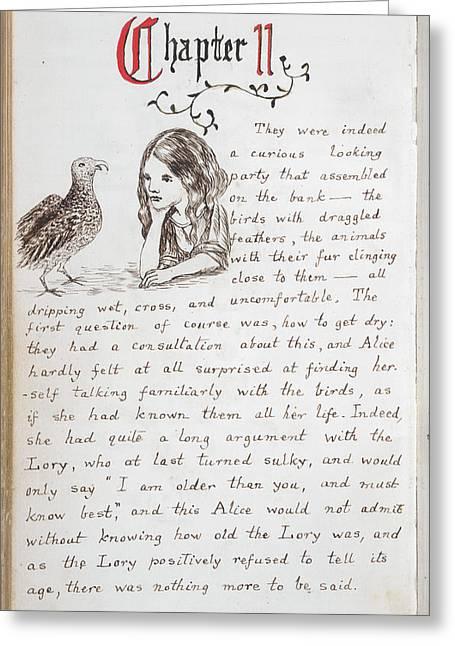 Alice's Adventures In Wonderland Greeting Card