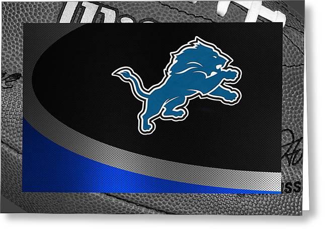Detroit Lions Greeting Card by Joe Hamilton