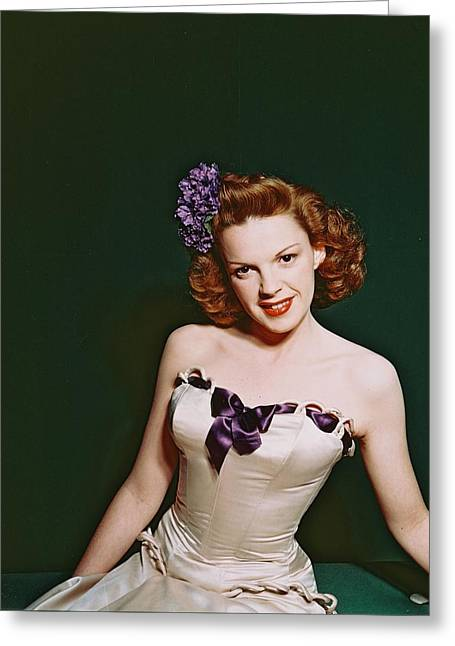 Judy Garland Greeting Card by Silver Screen