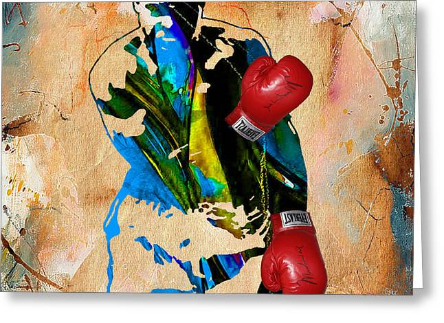 Muhammad Ali Greeting Card by Marvin Blaine