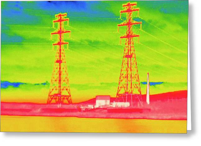 Thermogram Greeting Card by Science Stock Photography