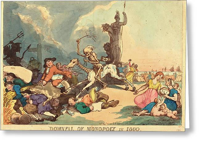 Thomas Rowlandson British, 1756  1827 Greeting Card by Litz Collection