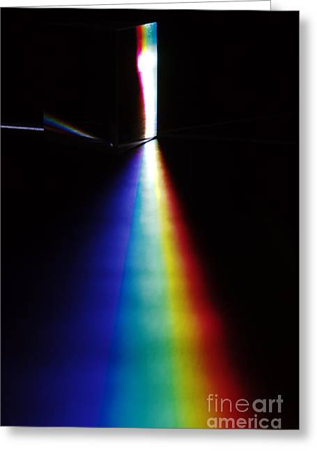 White Light Spectrum Greeting Card by GIPhotoStock