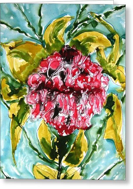 Heavenly Flowers Greeting Card by Baljit Chadha