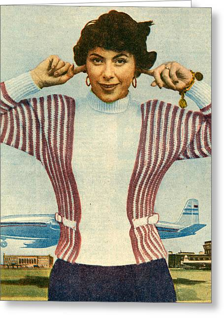 1950s Uk Illustrations Magazine Plate Greeting Card