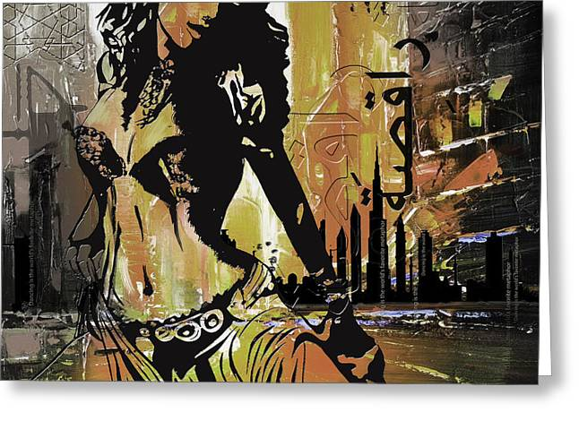 Abstract Belly Dancer 2 Greeting Card by Corporate Art Task Force