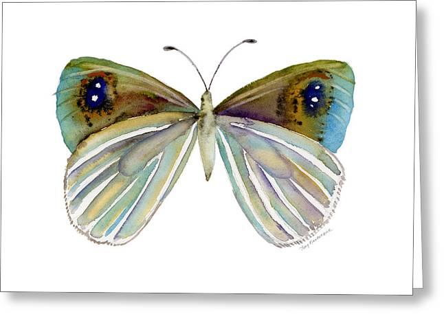 23 Blue Argyrophenga Greeting Card