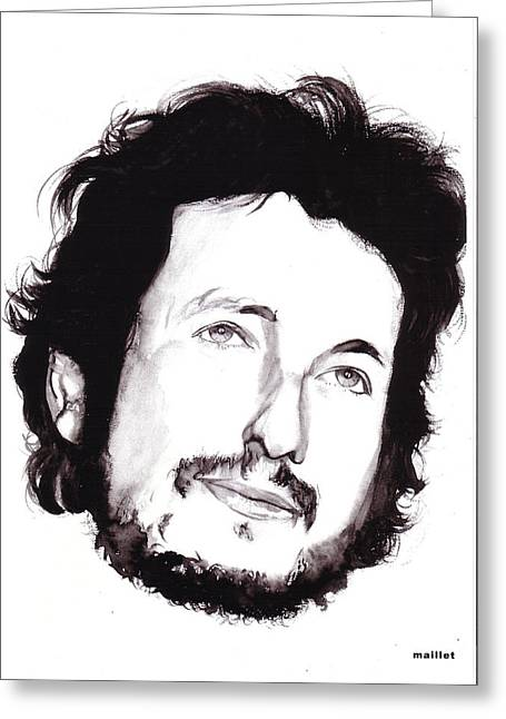 Bob Dylan Greeting Card by Laurette Maillet