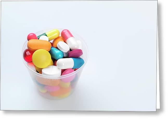 Pills Greeting Card by Tek Image
