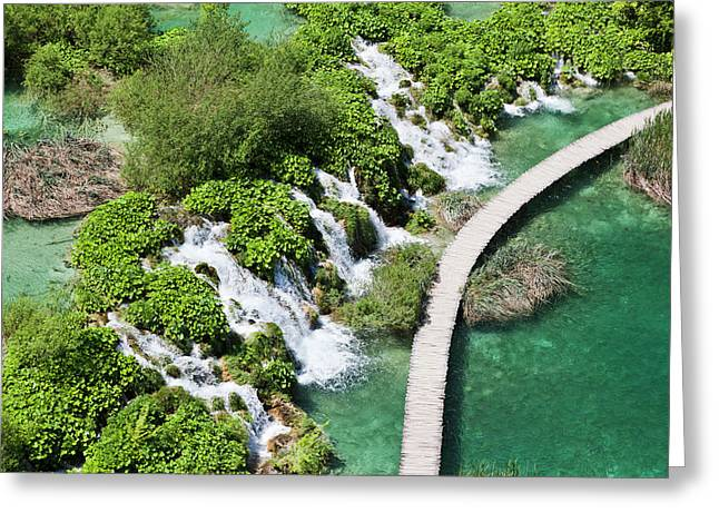 The Plitvice Lakes In The National Park Greeting Card