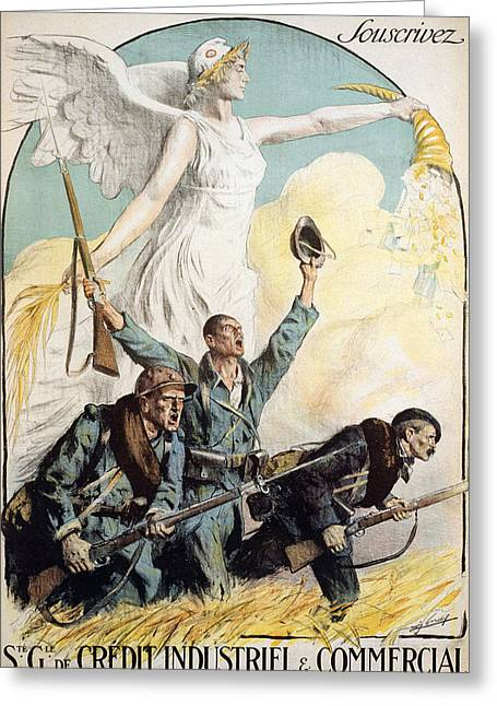 World War I French Poster Greeting Card by Granger
