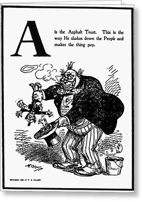 Anti-trust Cartoon, 1902 Greeting Card