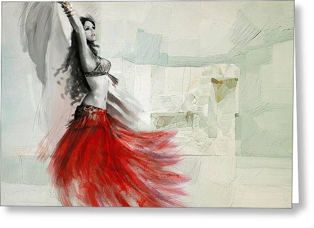 Belly Dancer 6 Greeting Card by Corporate Art Task Force