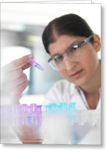 Biological Research Greeting Card