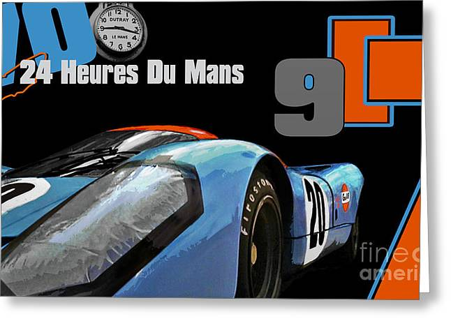 24 Heures Du Mans Greeting Card by Alan Greene