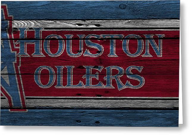 Houston Oilers Greeting Card by Joe Hamilton