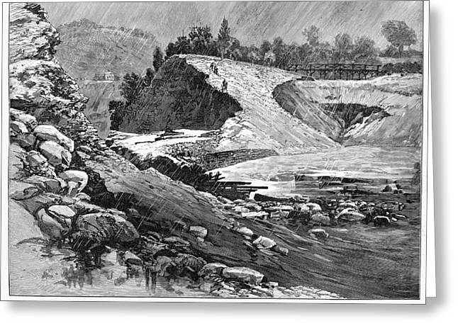 Johnstown Flood, 1889 Greeting Card by Granger