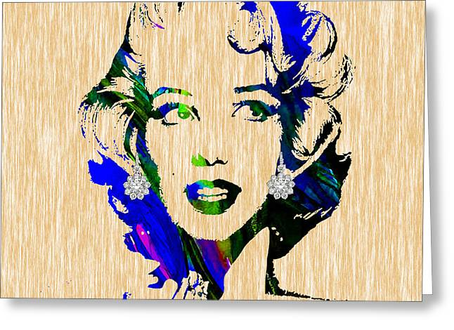 Marilyn Monroe Diamond Earring Collection Greeting Card