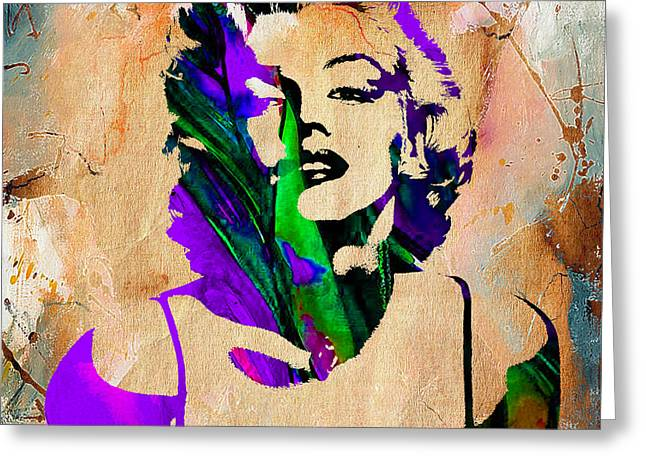 Marilyn Monroe Greeting Card by Marvin Blaine