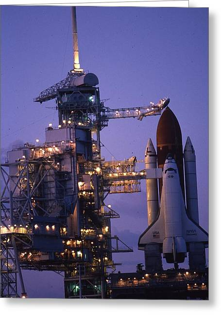 Space Shuttle Challenger  Greeting Card by Retro Images Archive