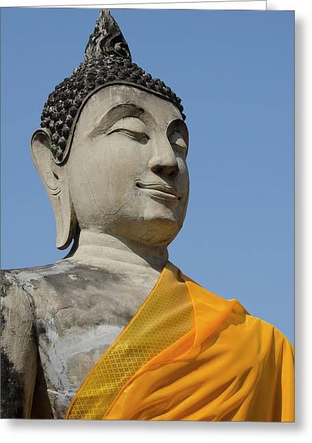 Thailand, Ayutthaya Greeting Card by Cindy Miller Hopkins