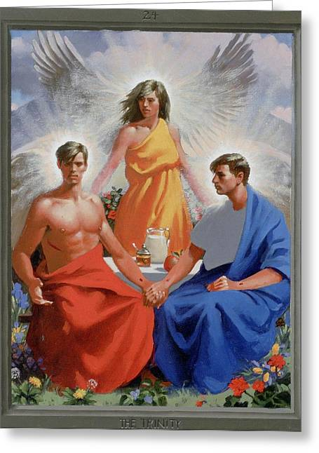 24. The Trinity / From The Passion Of Christ - A Gay Vision Greeting Card