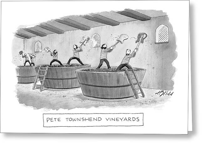 Pete Townshend Vineyards Greeting Card