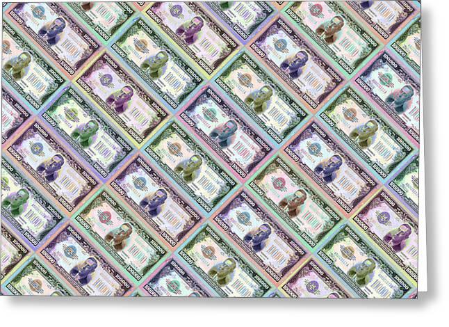 240 Million Dollars Slanted Greeting Card by Tony Rubino