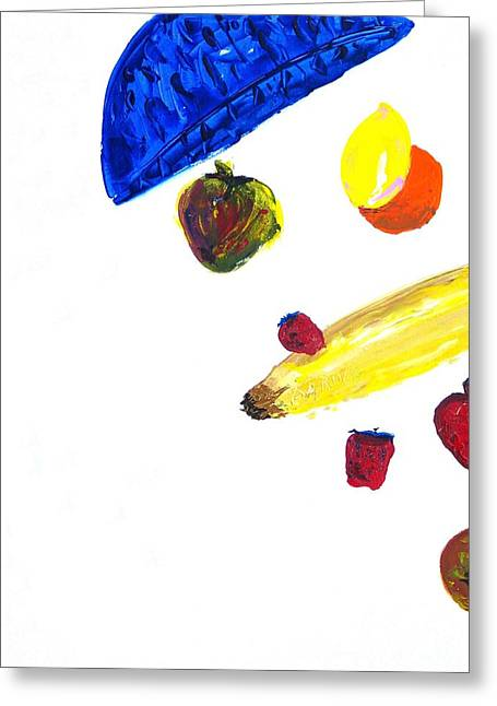 248 Spilled Life With Fruit Greeting Card by Aaron Aadamson
