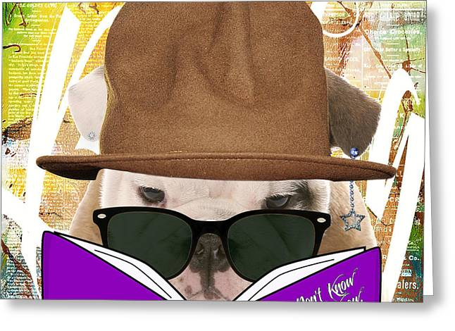 Bulldog Collection Greeting Card by Marvin Blaine