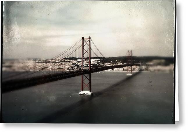 25 De Abril Bridge I Greeting Card by Marco Oliveira