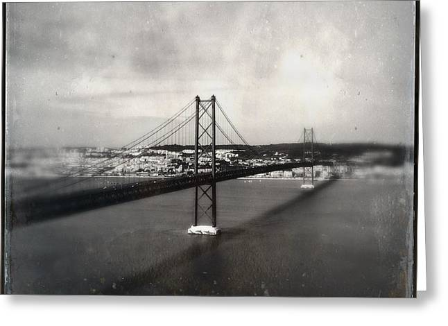 25 De Abril Bridge II Greeting Card by Marco Oliveira