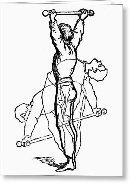 Exercise, 19th Century Greeting Card by Granger