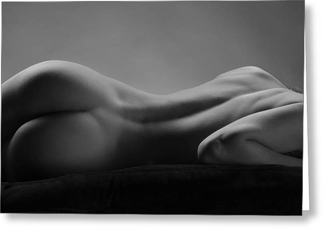 2533 Avonelle Bw Nude Back  Greeting Card by Chris Maher