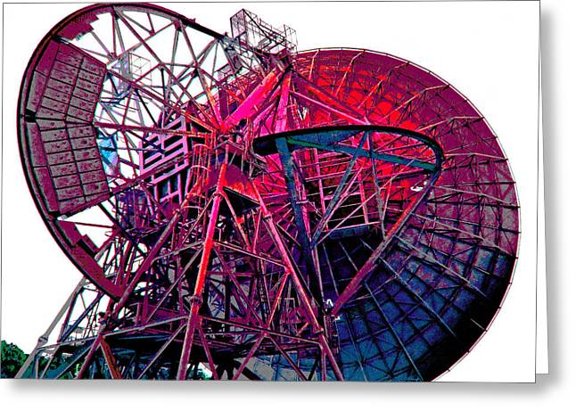 26 East Antenna Abstract 4 Greeting Card