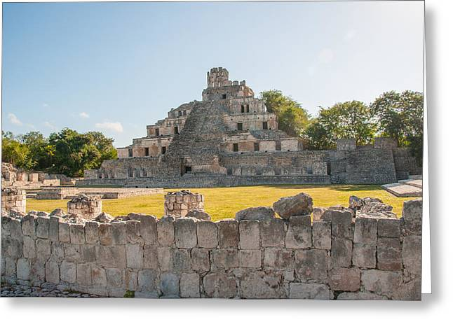 Edzna In Campeche Greeting Card by Carol Ailles