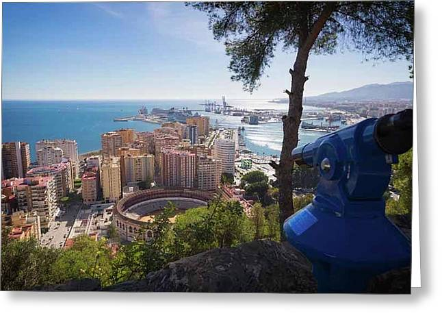 Malaga, Costa Del Sol, Spain Greeting Card by Ken Welsh