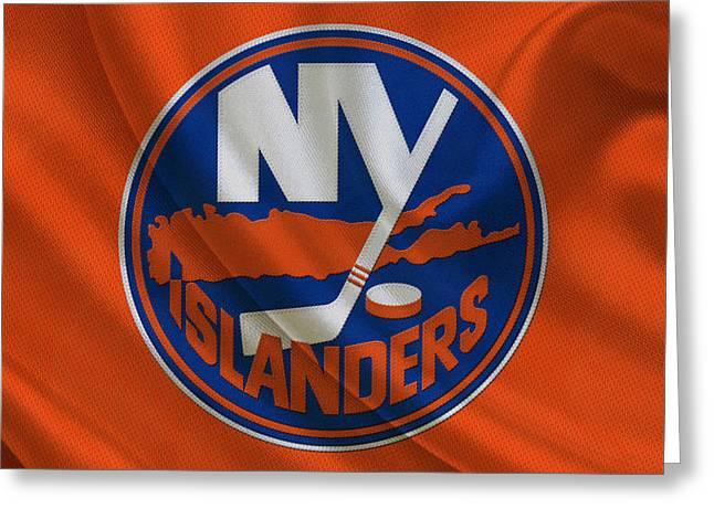New York Islanders Greeting Card by Joe Hamilton