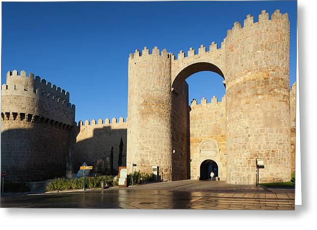 Spain, Castilla Y Leon Region, Avila Greeting Card by Walter Bibikow