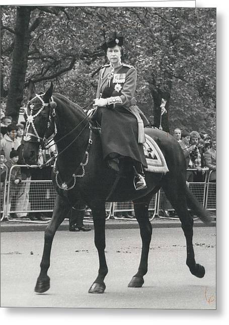 Trooping The Colour Ceremony Greeting Card by Retro Images Archive