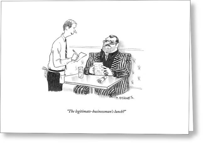 The Legitimate-businessman's Lunch? Greeting Card