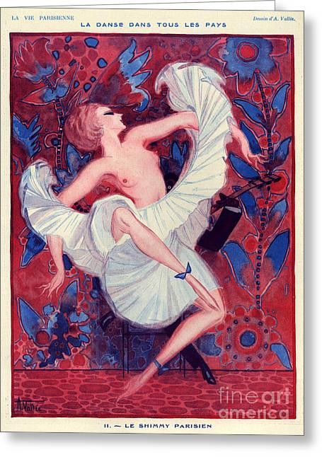 1920s France La Vie Parisienne Magazine Greeting Card