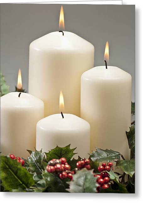 Advent Wreath Greeting Card by Ulrich Schade