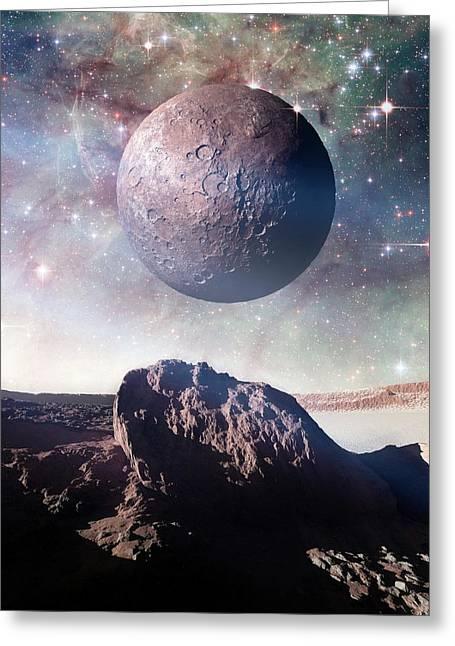 Alien Planet Greeting Card by Detlev Van Ravenswaay
