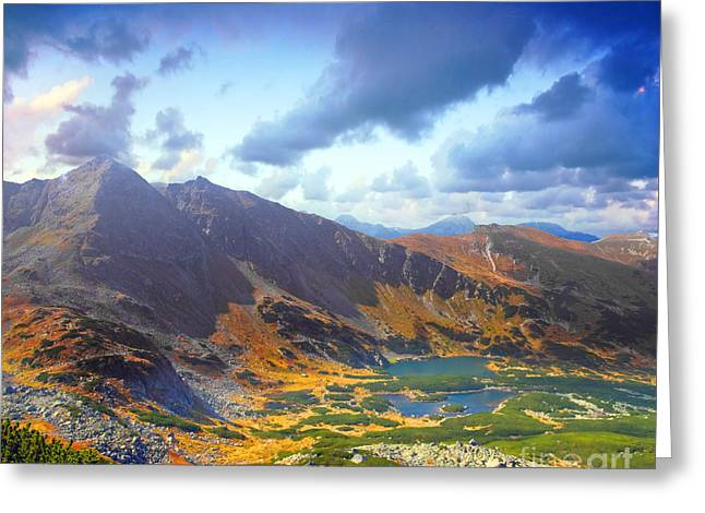 Mountains Landscape Greeting Card by Michal Bednarek