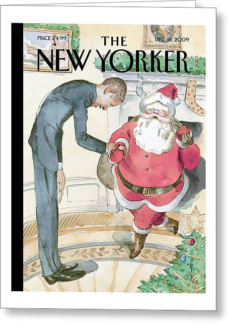 New Yorker December 14th, 2009 Greeting Card
