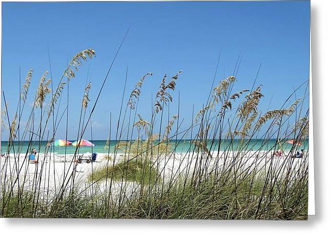Beach Greeting Card by William Watts